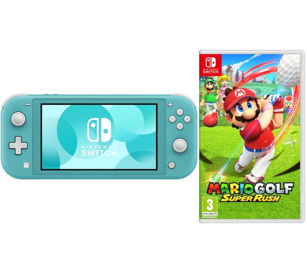 NINTENDO Switch Lite Turquoise & Mario Golf: Super Rush Bundle