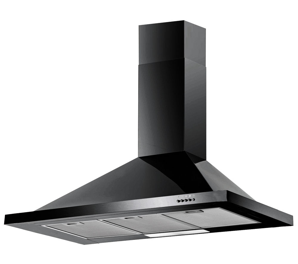 BAUMATIC F100.2BL Chimney Cooker Hood - Black, Black