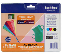 BROTHER LC223/LC227XL Tri-colour & Black Ink Cartridges - Multipack
