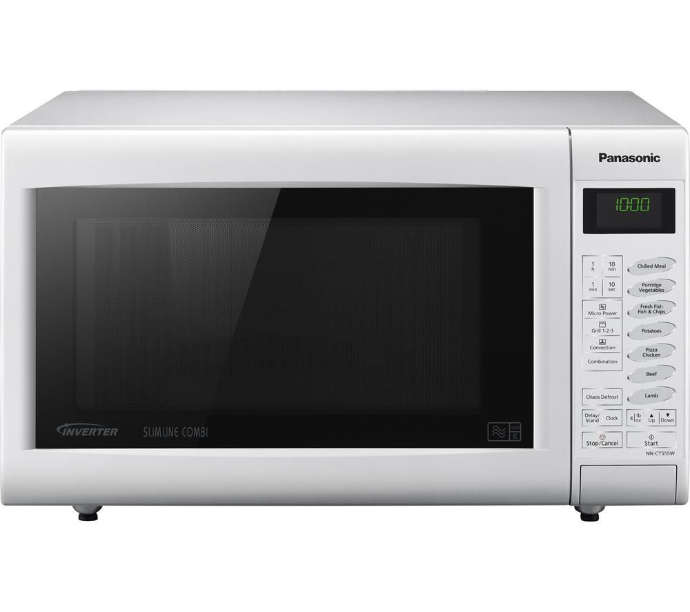 PANASONIC NN-CT555WBPQ Combination Microwave - White + Round 2.6-litre Rice Steamer