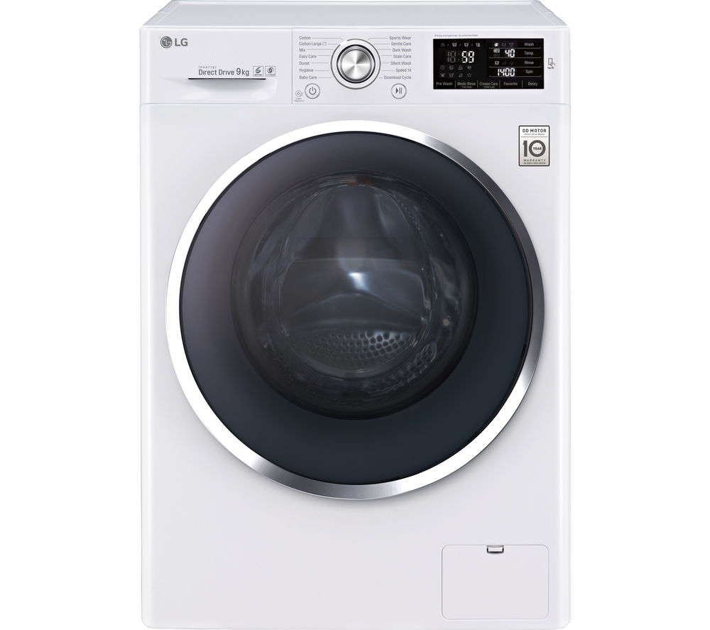 LG FH4U2VCN2 Washing Machine - White + Ecotime IDV75 Vented Tumble Dryer - White