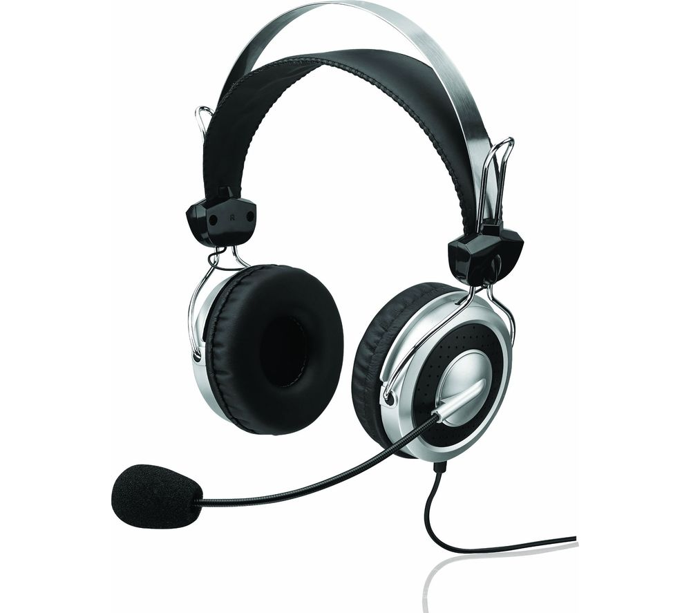 ADVENT AHSOV16 Headset - Black and Silver