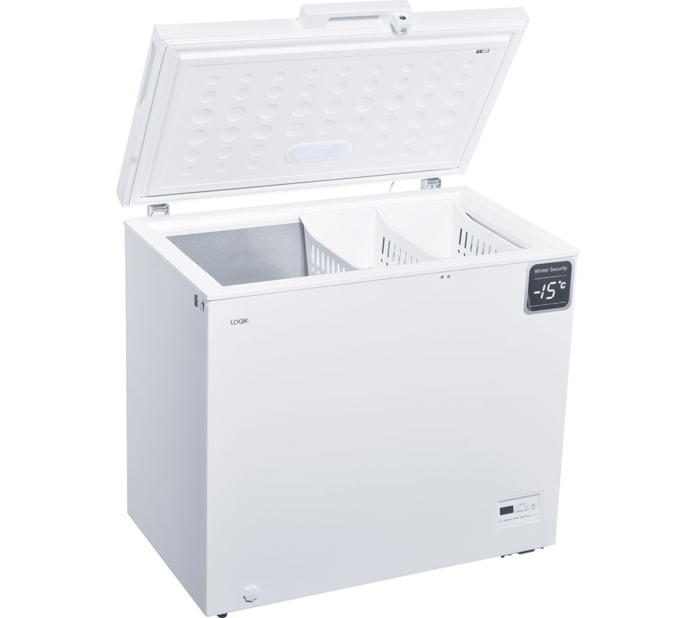 LOGIK L200CFW17 Chest Freezer - White, White