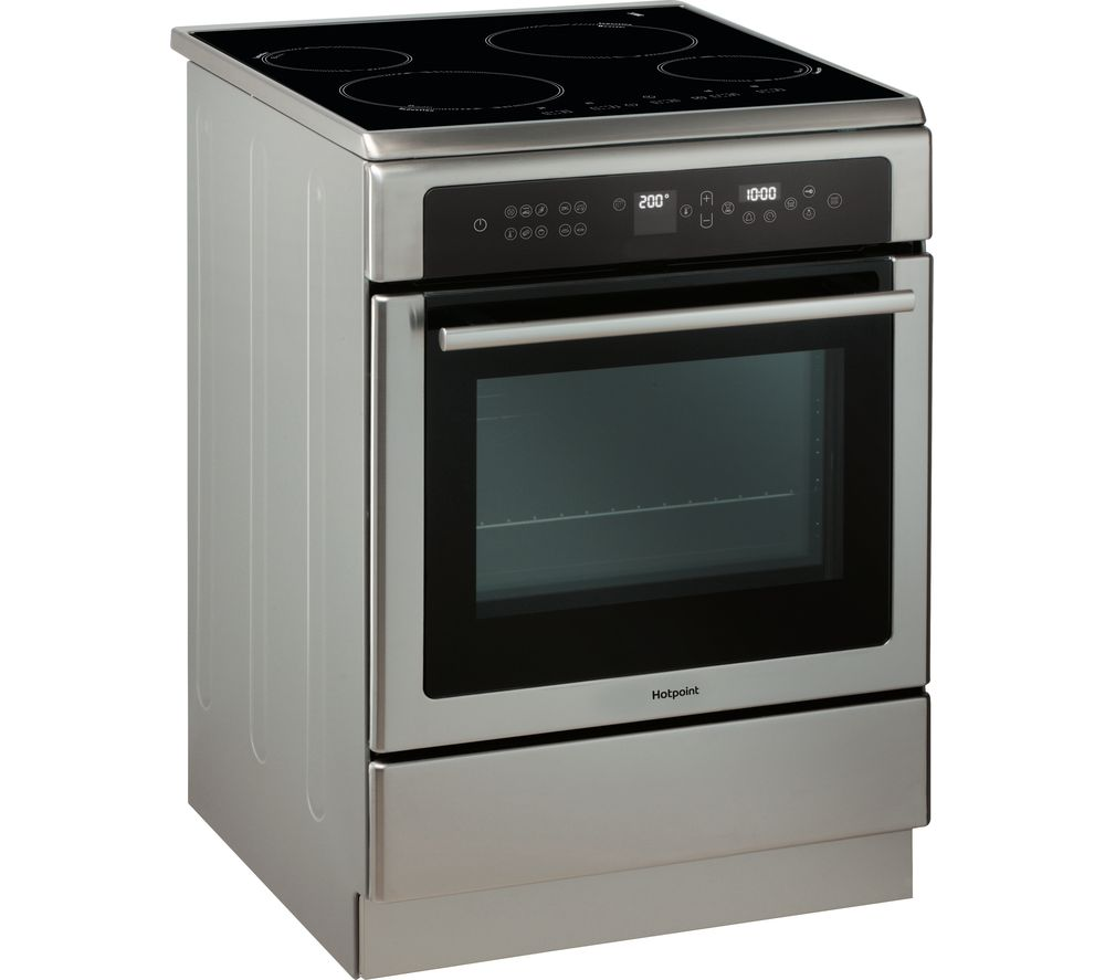 HOTPOINT DUI612PX Electric Induction Cooker - Silver & Black