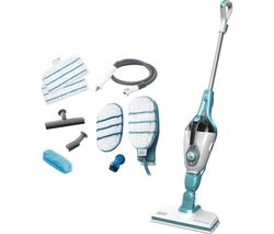 Image of BLACK + DECKER FSMH1351SM-GB 9 in 1 Steam Mop - White & Aqua