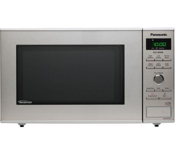 Silver PANASONIC NN-E28JMMBPQ Compact Solo Microwave Currys