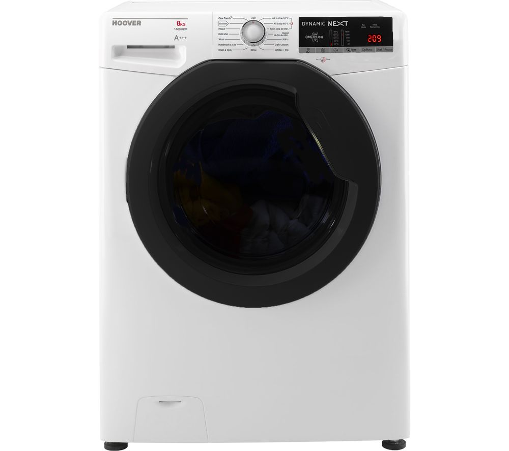 Compare retail prices of Hoover Dynamic DXOA48AFN3 NFC 8 kg 1400 Spin Washing Machine to get the best deal online