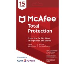 MCAFEE Total Protection 2018 - 1 user / 15 devices for 1 year