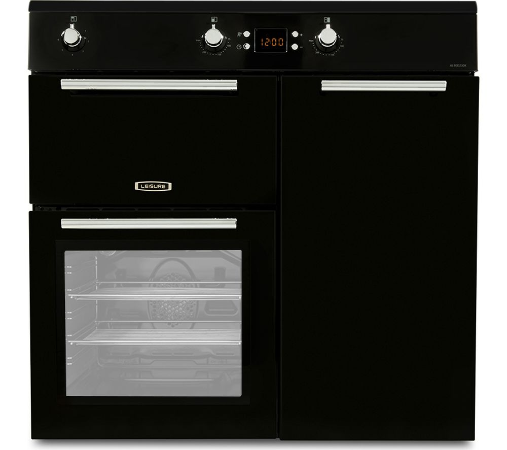 LEISURE AL90D230K 90 cm Electric Induction Range Cooker - Black, Black