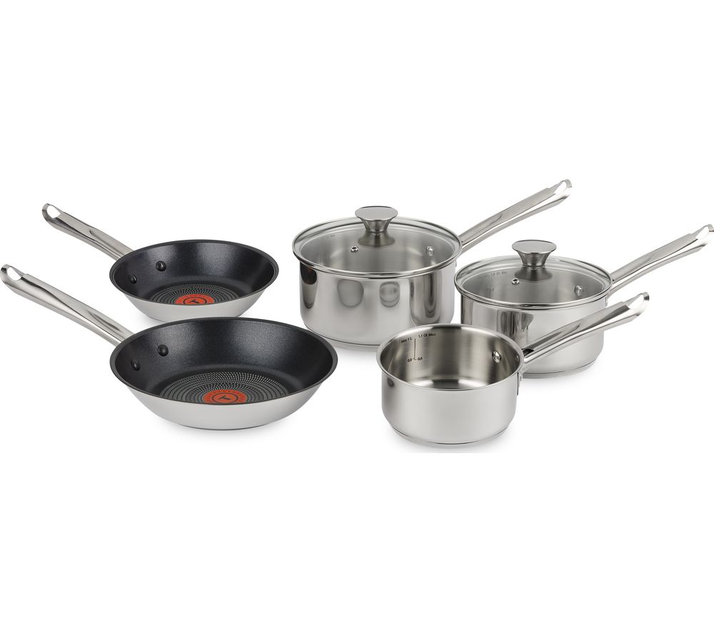 TEFAL Elementary 5-piece Cookware Set - Stainless Steel