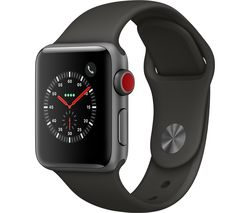 APPLE Watch Series 3 Cellular - Grey, 38 mm