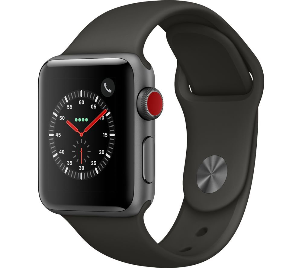 APPLE Watch Series 3 Cellular - Grey, 38 mm, Grey cheapest retail price