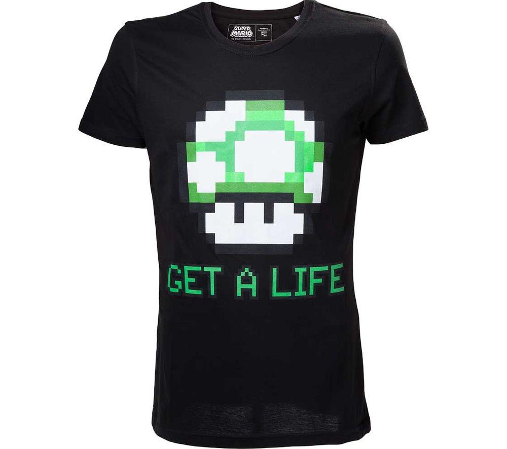MARIO Legacy T-Shirt - Medium, Black, Black