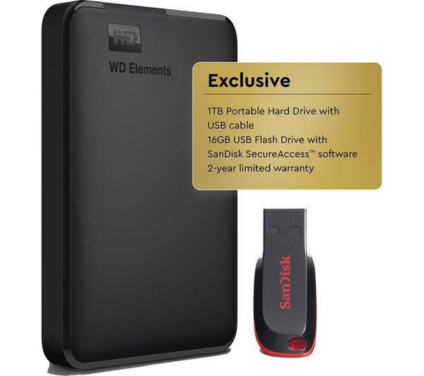 buy wd elements portable hard drive 1 tb sandisk. Black Bedroom Furniture Sets. Home Design Ideas