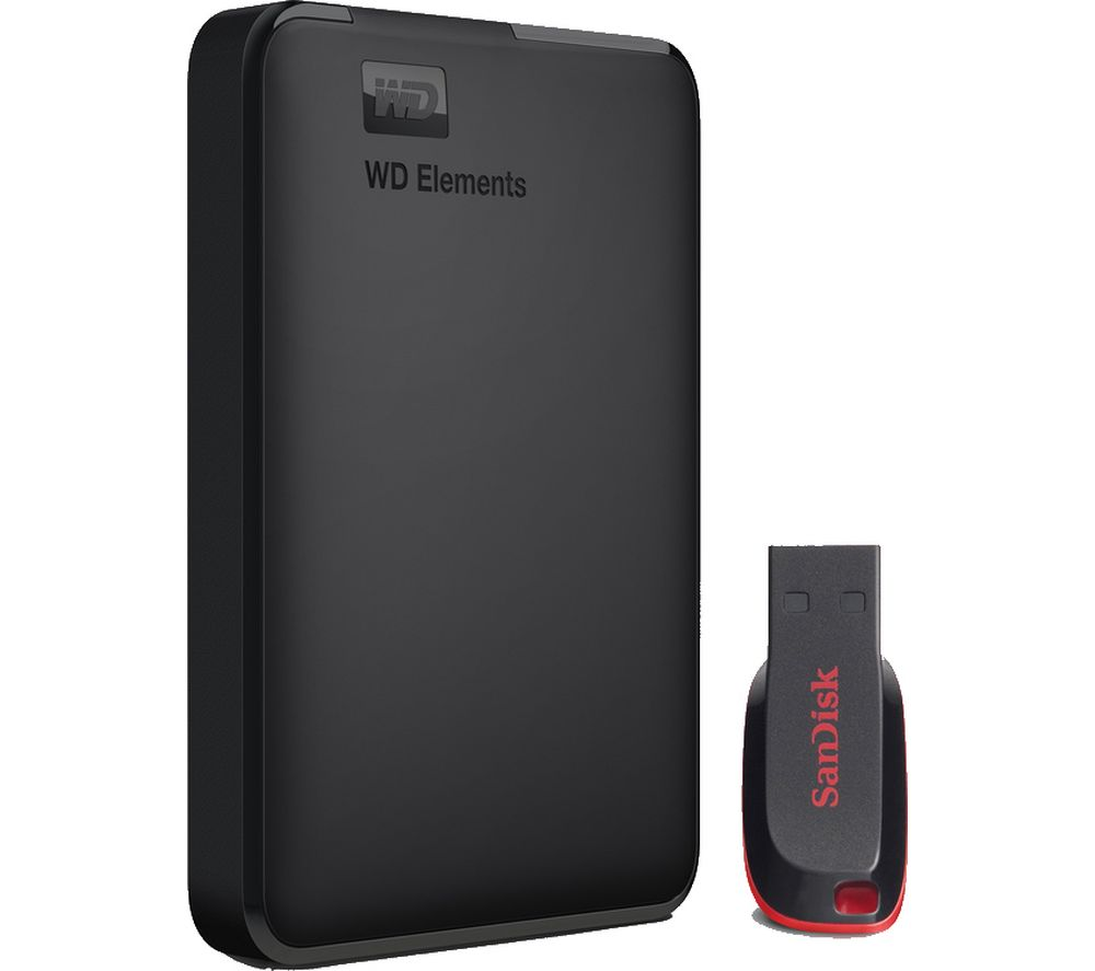 wd elements portable hard drive 1 tb sandisk cruzer blade 16 gb usb black deals pc world. Black Bedroom Furniture Sets. Home Design Ideas