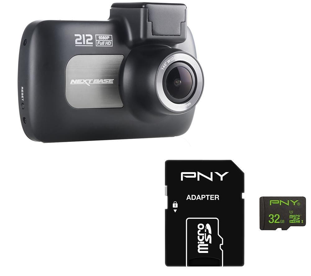 NEXTBASE 212 Lite Dash Cam & 32 GB High Performance Class 10 microSD Memory Card Bundle specs