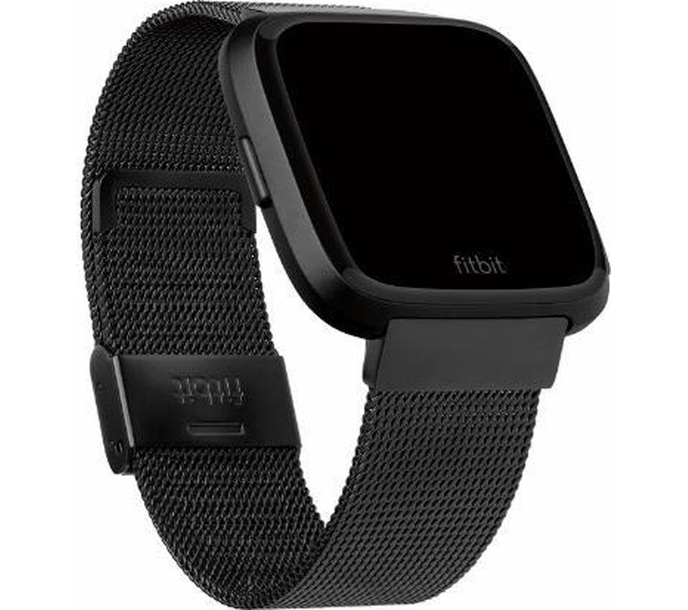 FITBIT Versa Stainless Steel Mesh Band - Black