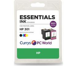 ESSENTIALS HP 301 Combo Black & Tri-colour Ink Cartridges