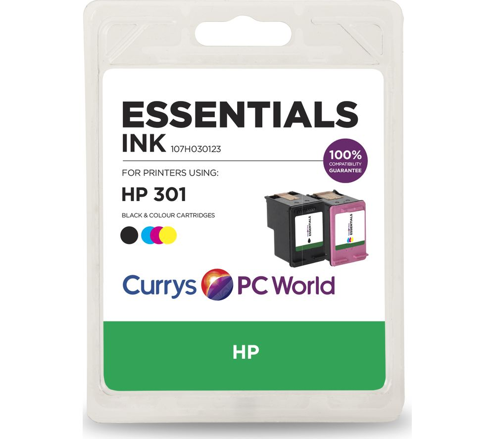 ESSENTIALS HP 301 Combo Black & Tri-colour Ink Cartridges