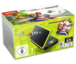 NINTENDO 2DS XL & Mario Kart 7 - Black & Green