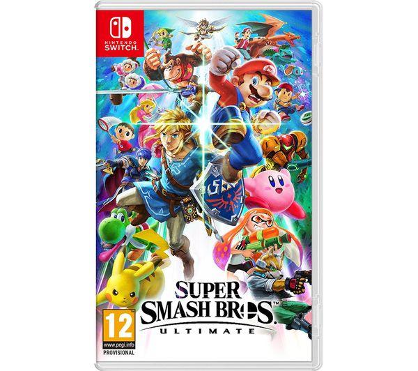 NINTENDO SWITCH Super Smash Bros  Ultimate & New Super Mario Bros  U Deluxe  Bundle