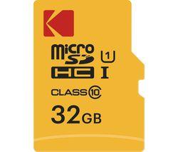 KODAK Extra Class 10 microSDHC Memory Card - 32 GB