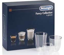 Fancy Collection DLKC302 Double Wall Coffee Glasses - Set of 6