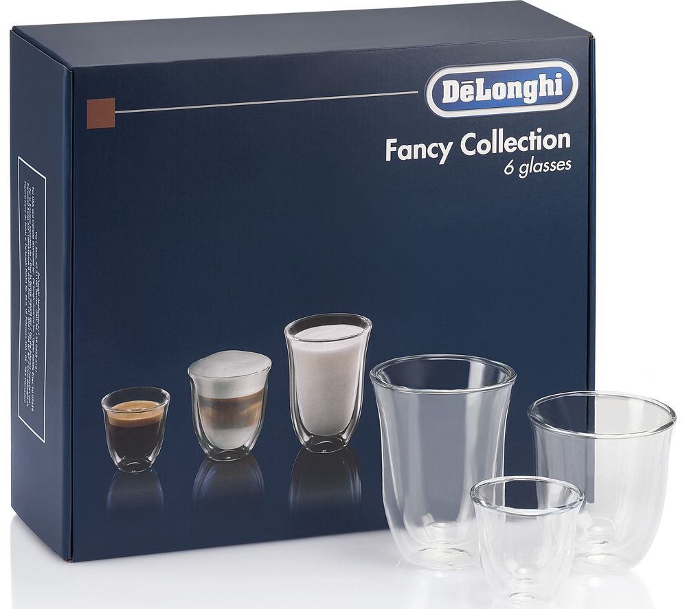 DELONGHI Fancy Collection DLKC302 Double Wall Coffee Glasses - Set of 6