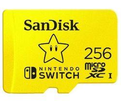 High Performance Class 10 microSD Memory Card for Nintendo Switch - 256 GB