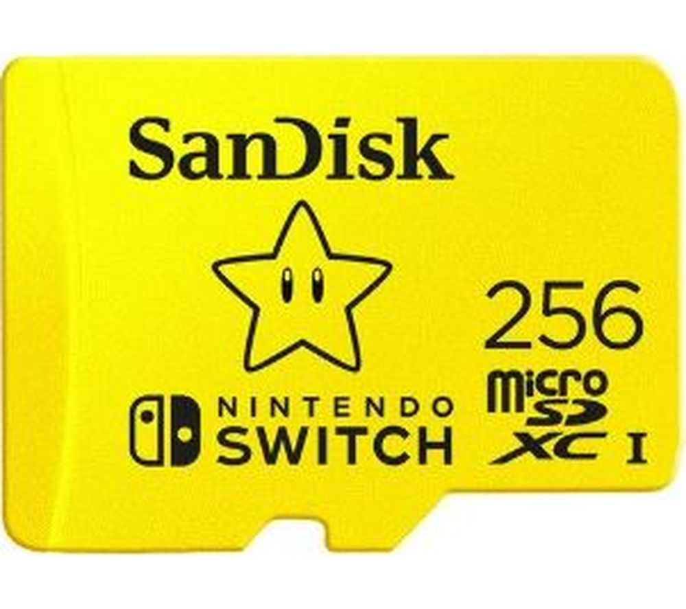 SANDISK High Performance Class 10 microSD Memory Card for Nintendo Switch - 256 GB