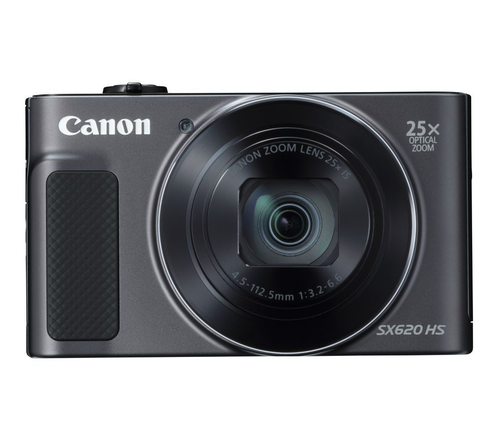 CANON PowerShot SX620 HS Superzoom Compact Camera with 32 GB SDHC Class 10 Card & Case - Black, Blac