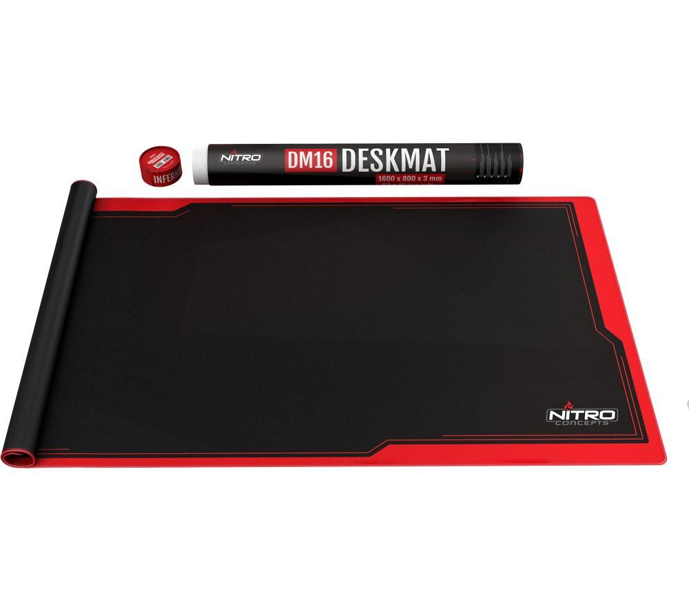 Image of Nitro Concepts Desk Mat 1600 x 800mm - Black/Red