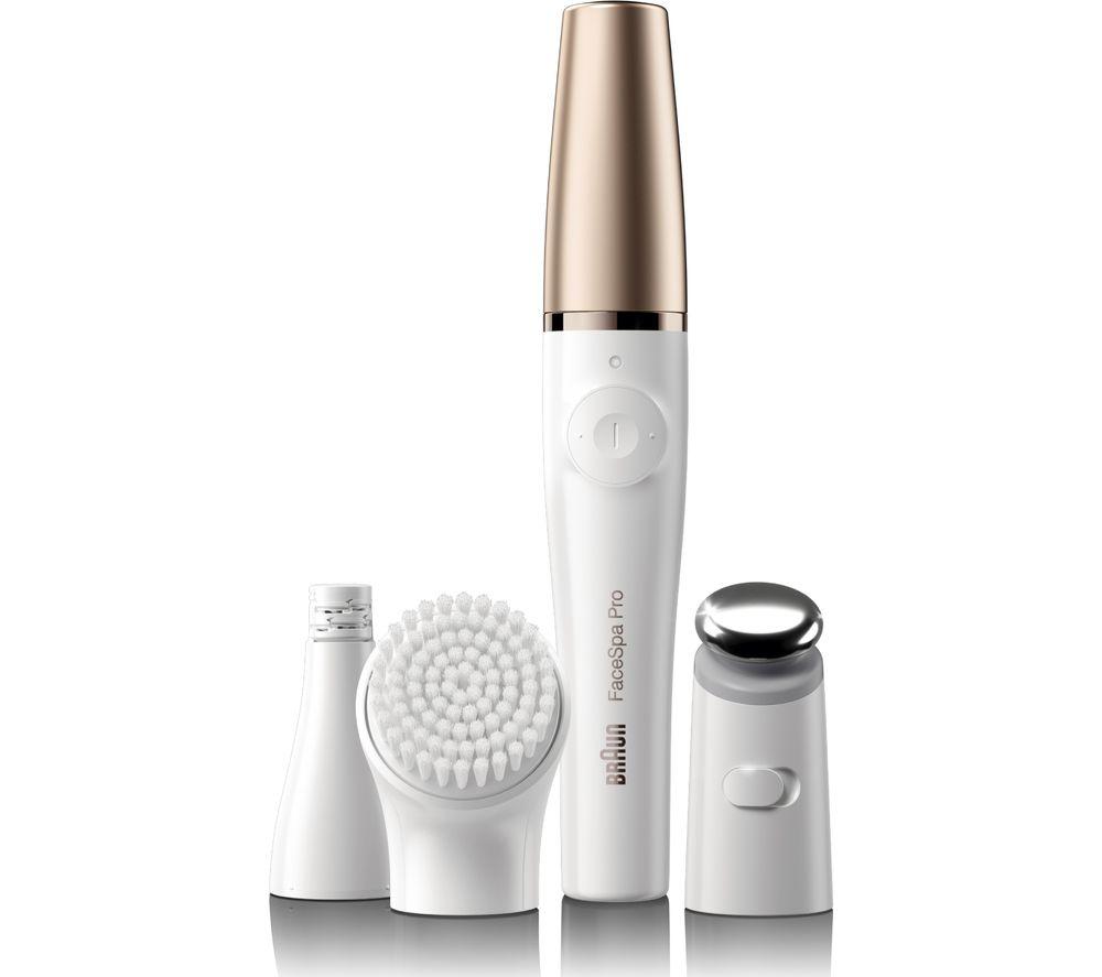 BRAUN FaceSpa Pro 911 Facial Epilator - Gold & White