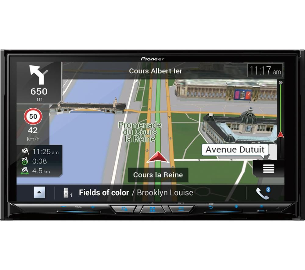 PIONEER AVIC-Z920DAB Smart Bluetooth Car Radio with Sat Nav - Black, Full Europe Maps, Black