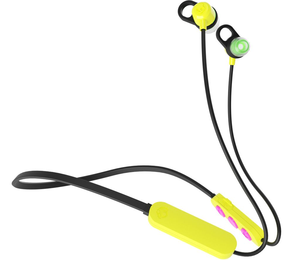 SKULLCANDY Jib+ Wireless Bluetooth Earphones - Electric Yellow