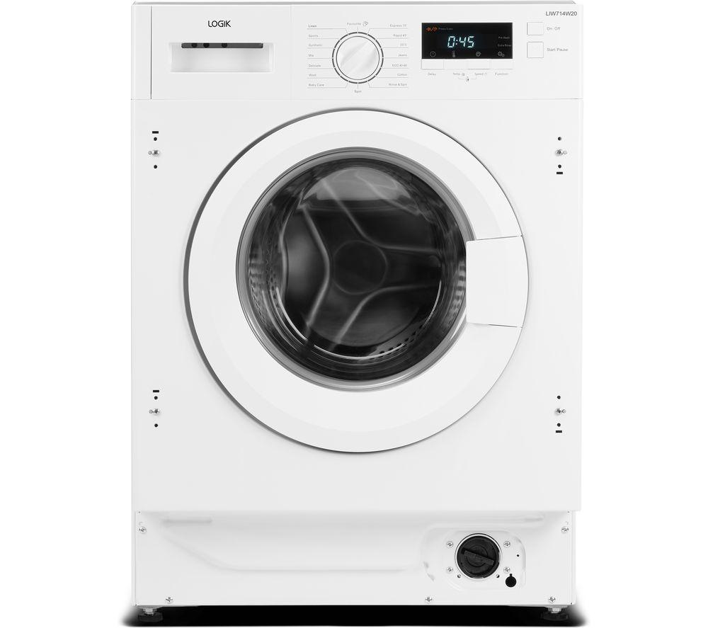 LOGIK LIW714W20 Integrated 7 kg 1400 Spin Washing Machine