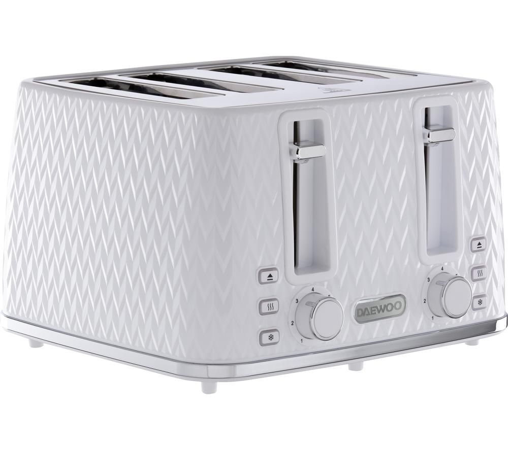 DAEWOO Argyle Collection SDA1864 4-Slice Toaster - White