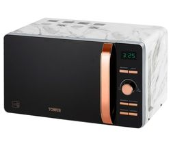 TOWER T24021WMRG Solo Microwave - Marble & Rose Gold Best Price, Cheapest Prices
