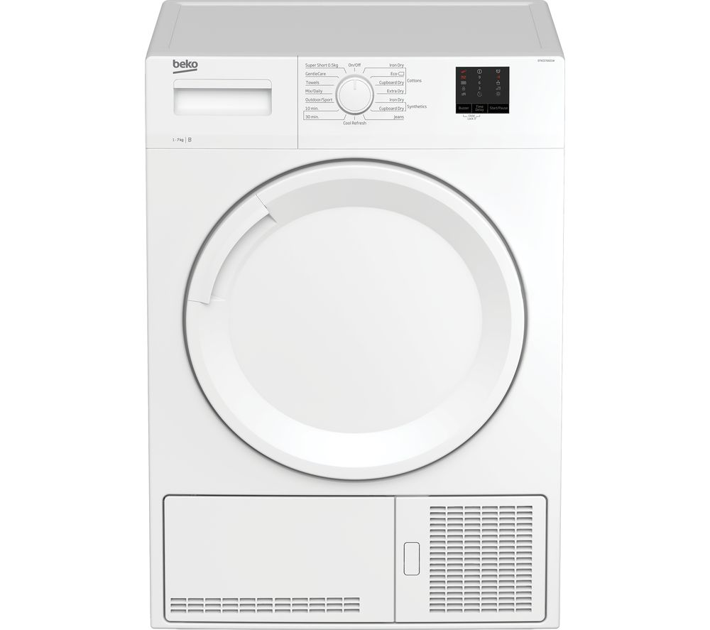 Image of BEKO DTKCE70021W 7 kg Condenser Tumble Dryer - White, White