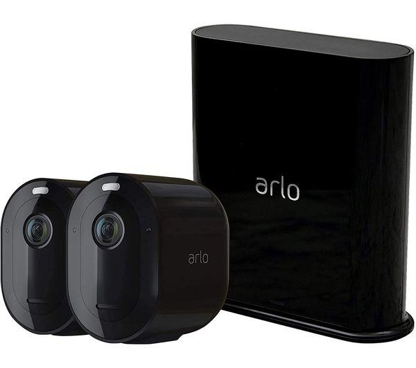ARLO Pro 3 2K WiFi Security Camera System - 2 Cameras, Black