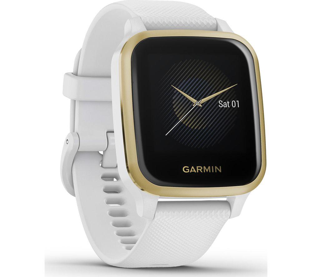 GARMIN Venu Sq - Light Gold & White