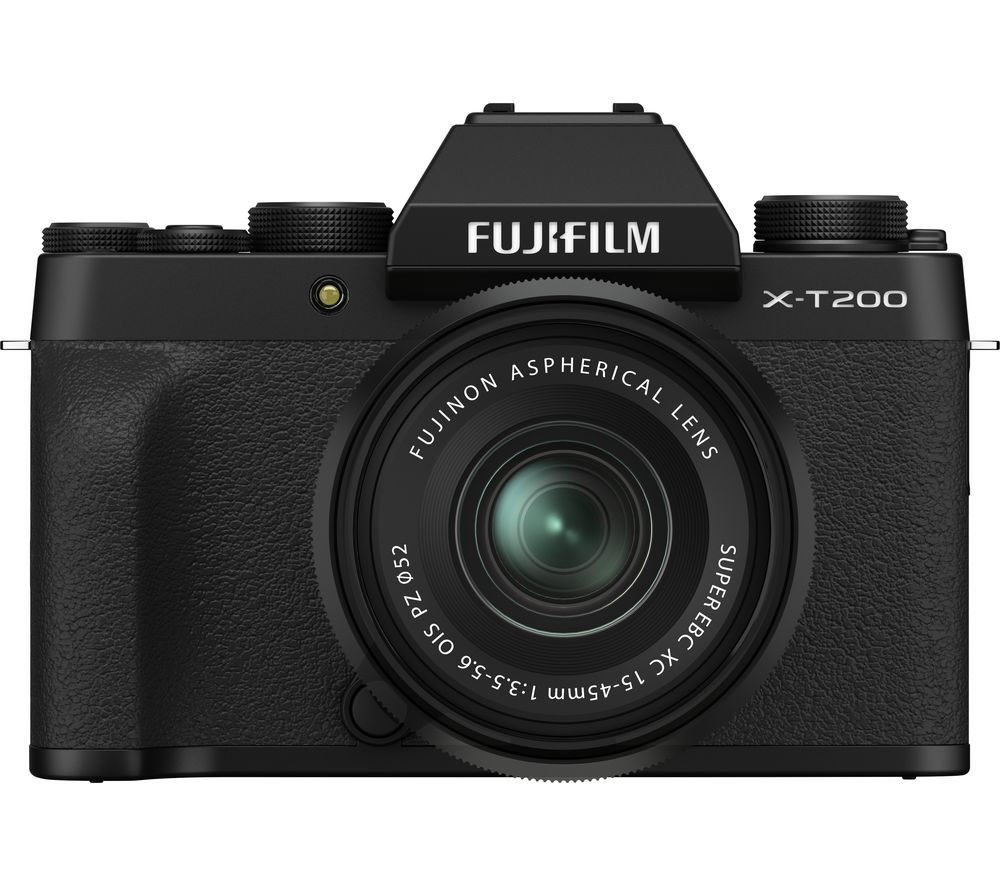 FUJIFILM X-T200 Mirrorless Camera with FUJINON XC 15-45 mm f/3.5-5.6 OIS PZ Lens - Black