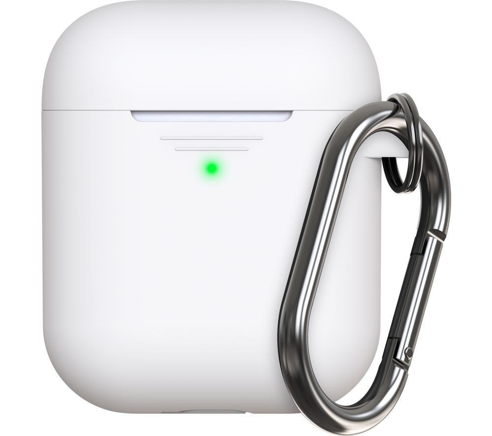 KEYBUDZ Elevate AirPods Protective Keychain Case - White, White