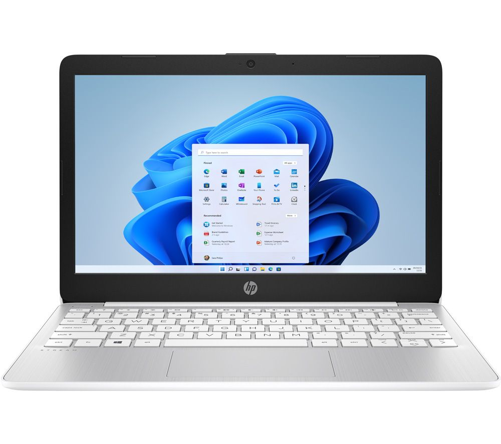 "Image of HP Stream 11-ak0512sa 11.6"" Laptop - Intel®Celeron™, 64 GB eMMC, White, White"