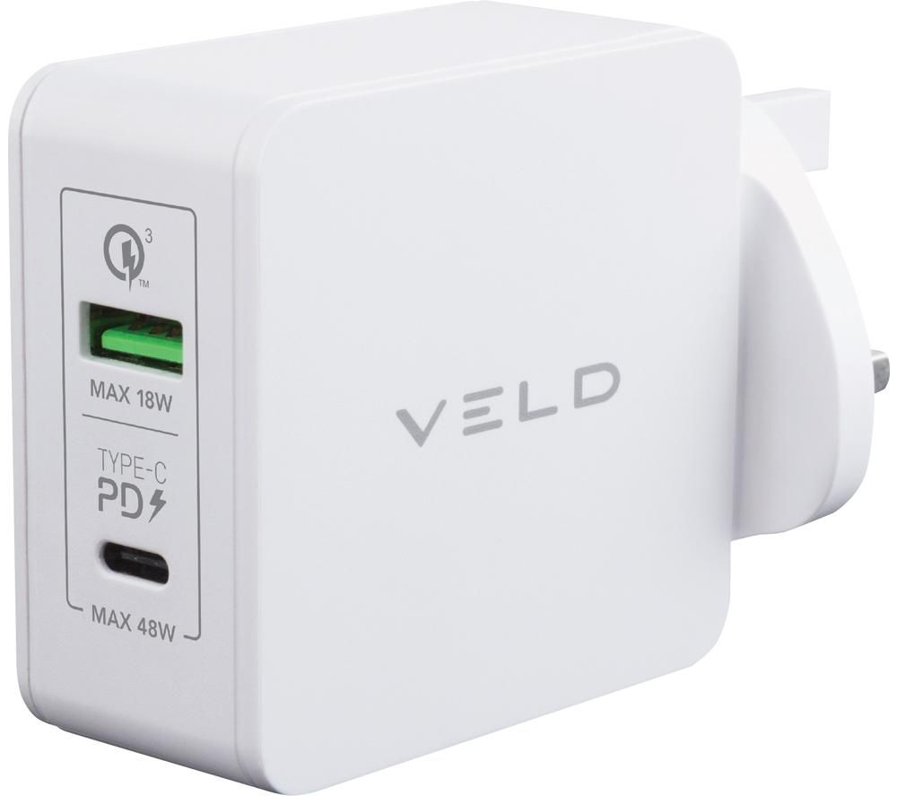 VELD Super-Fast Dual USB Wall Charger