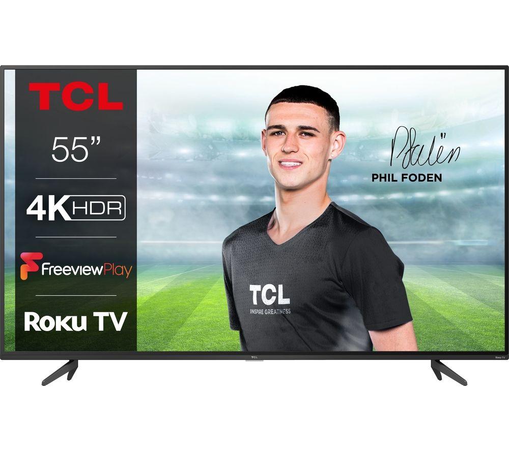 "55"" TCL 55RP620K Roku Smart 4K Ultra HD HDR LED TV"