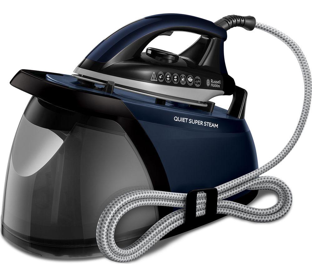 RUSSELL HOBBS Quiet SuperSteamPro 24470 Steam Generator Iron - Black & Blue