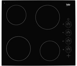 BEKO HIC64102 Electric Ceramic Hob - Black Best Price, Cheapest Prices