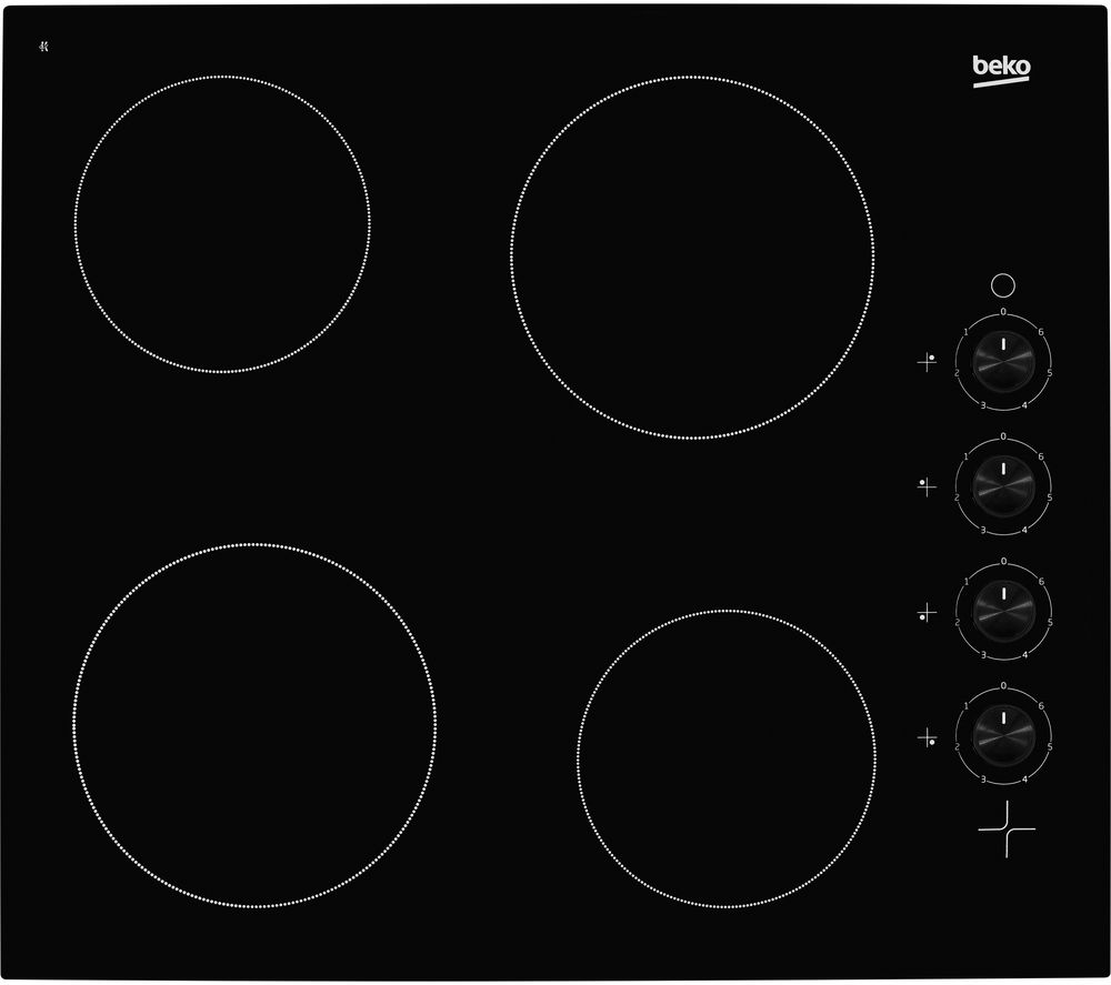Image of BEKO HIC64102 Ceramic Hob - Black, Black