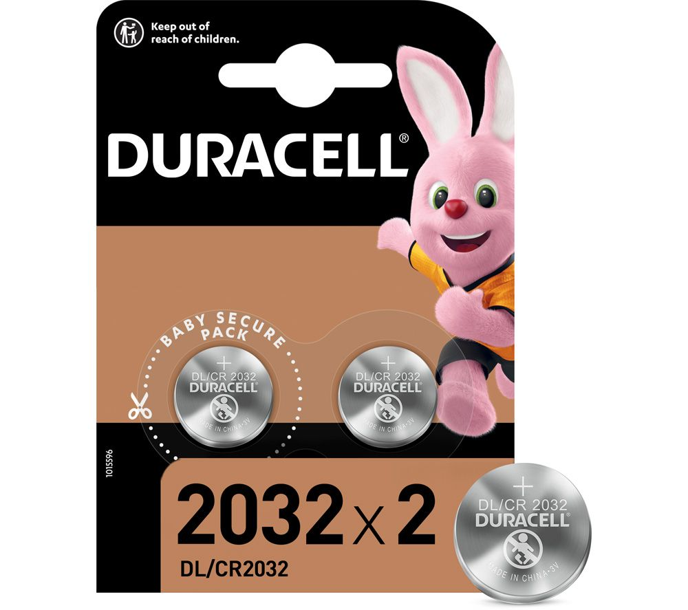 DURACELL DL2032/CR2032/ECR2032 Lithium Batteries - Pack of 2
